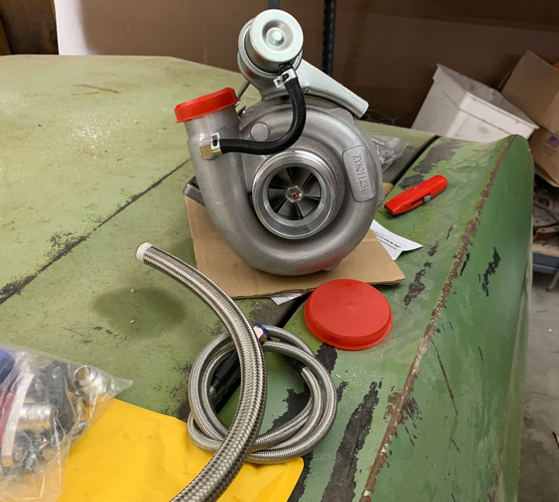 cheap ebay turbo with oil lines