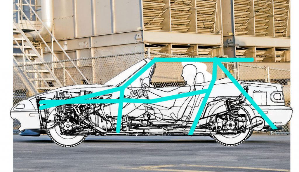 Planning fabrication with a roll cage sketch