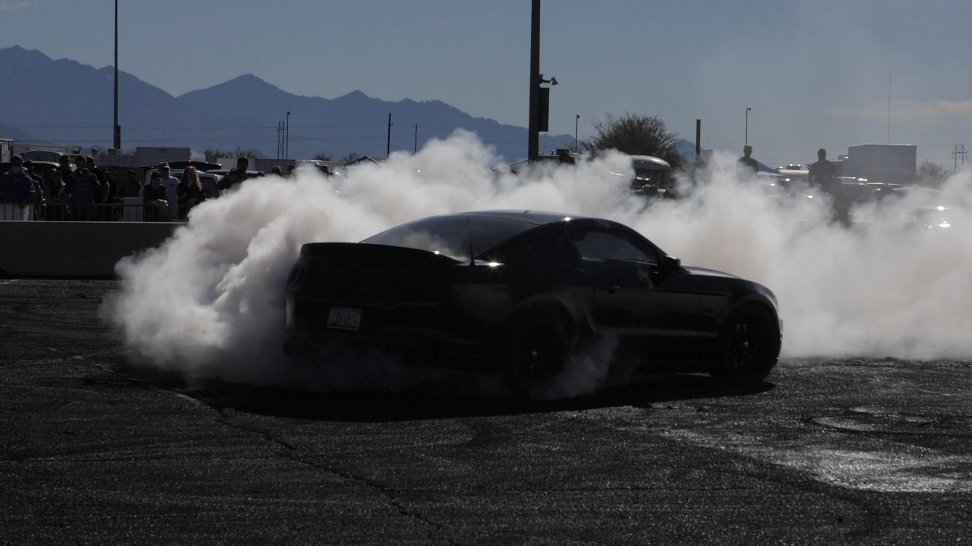 Cars Doing Burnouts in Slow Motion