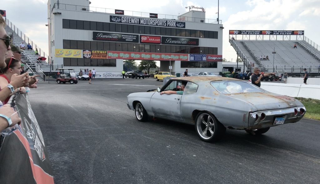 the ratty chevelle at roadkill zip tie drags