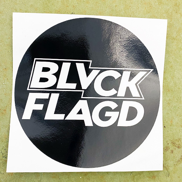 blvckflagd round logo sticker